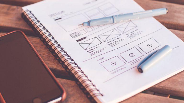 Webdesign start op papier